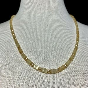 Jewelry - Vintage Mother of Pearl Faceted Tube Necklace